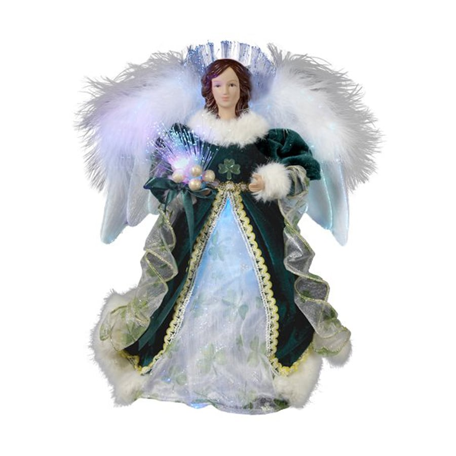 Christmas Central Plastic Irish Angel Christmas Tree Topper With