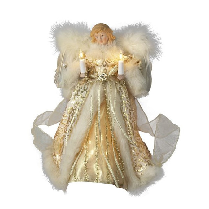 Christmas Central Plastic Angel Christmas Tree Topper With White Incandescent Lights In The Christmas Tree Toppers Department At Lowes Com