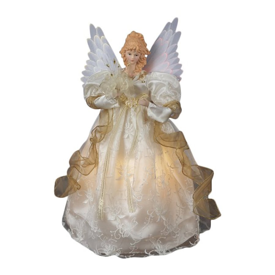 Christmas Central Porcelain Angel Christmas Tree Topper With Color