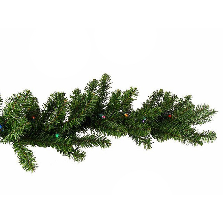 Christmas Central 9 Ft Pre Lit Artificial Christmas Garland With