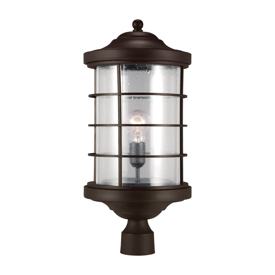 Sea Gull Lighting Sauganash 22.25-in H Antique Bronze Post Light