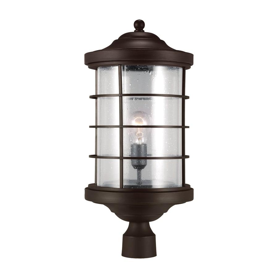 Sea Gull Lighting Sauganash 22.25-in H Antique Bronze Post Light