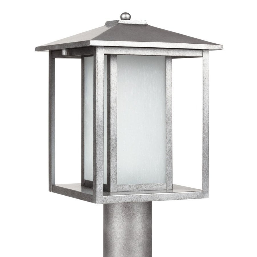 Sea Gull Lighting Hunnington 15-in H Weathered Pewter Post Light