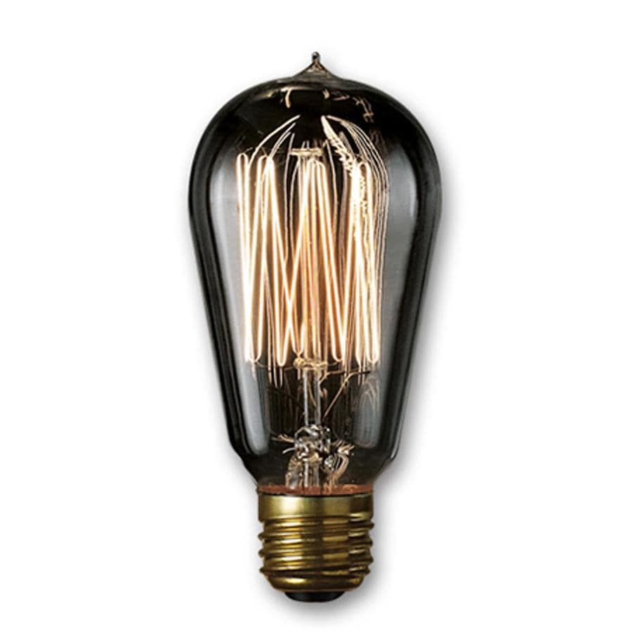 Cascadia Lighting Nostalgic 1910 2-Pack 40 Watt Dimmable Amber ST18 Vintage Incandescent Decorative Light Bulb