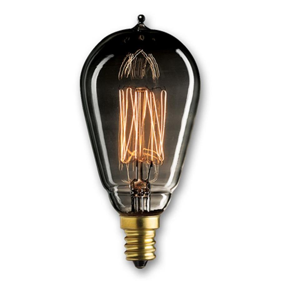 Shop Cascadia Lighting Mininostalgic 4 Pack 25 Watt Dimmable Amber St15 Vintage Incandescent