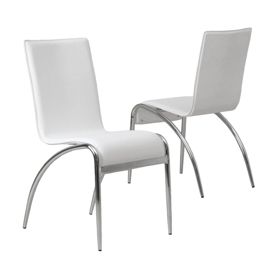 Best Selling Home Decor Set Of 2 Kensington Contemporary White Side Chair