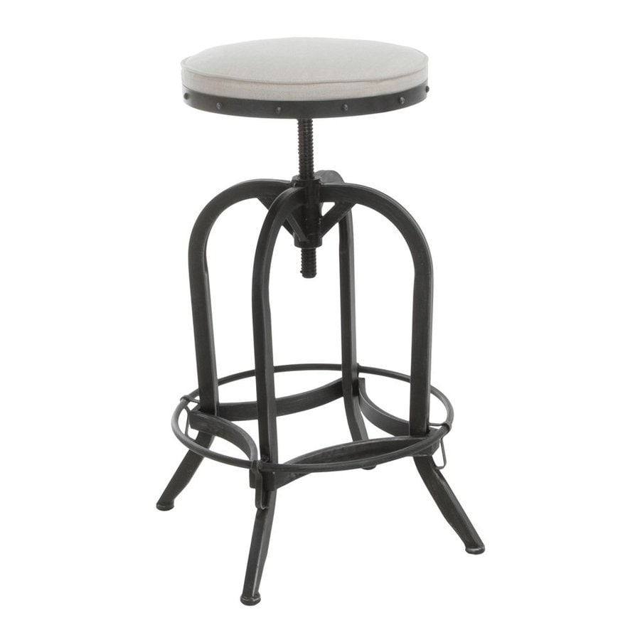 Best Selling Home Decor Gunner Antique Black/Off-White 32.9-in Adjustable Stool