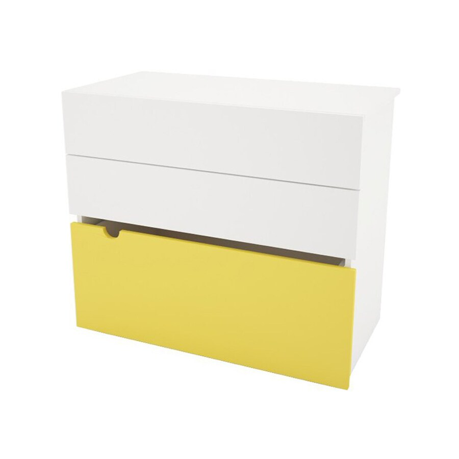 Nexera Taxi White/Yellow 3-Drawer Dresser