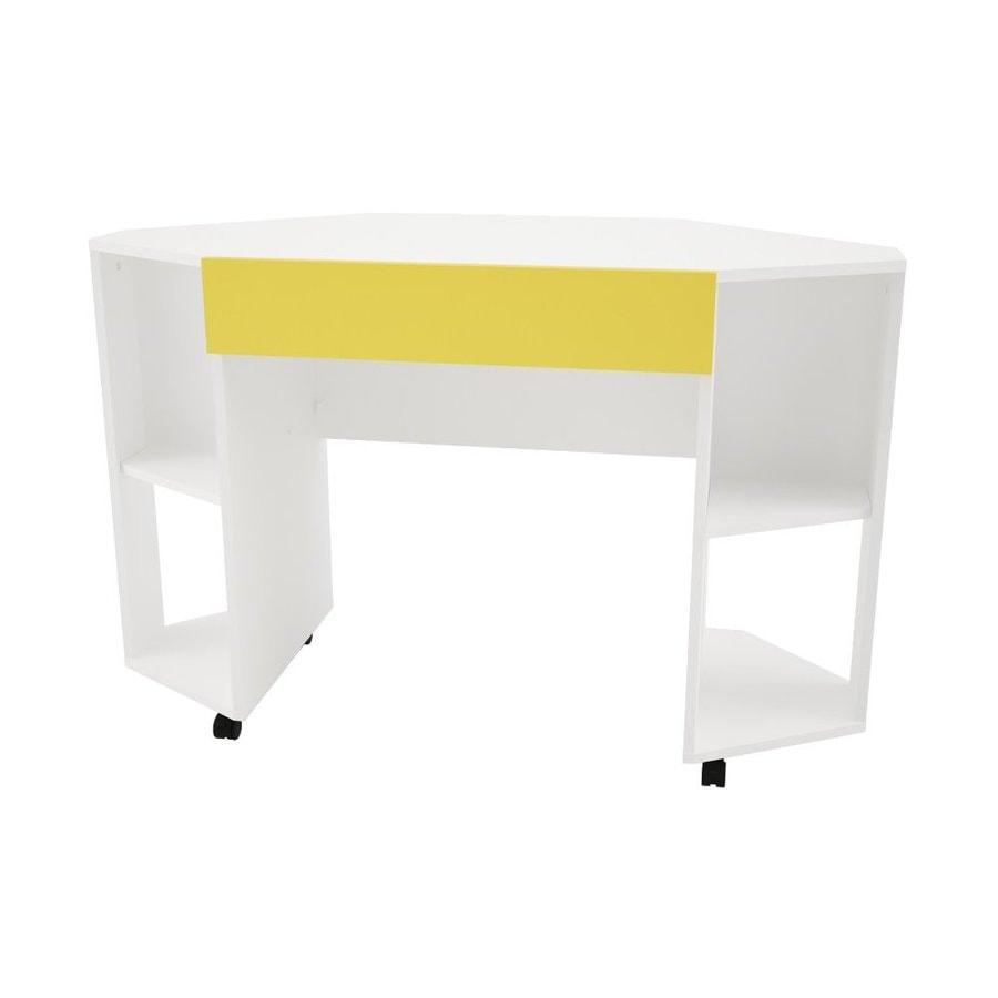 Nexera Taxi White/Yellow Corner Desk
