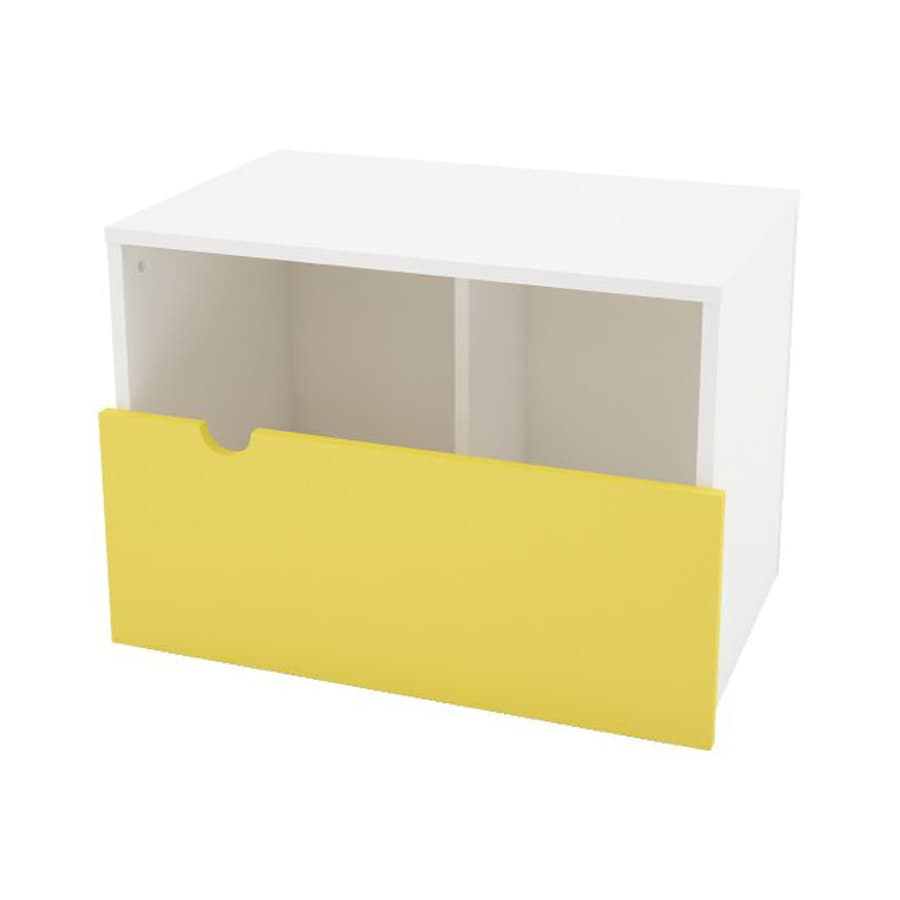 Nexera Taxi Kids White Yellow Storage Bench