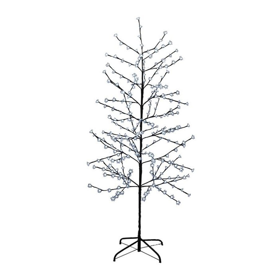 christmas central 6 ft pre lit twig artificial christmas tree with 280 count