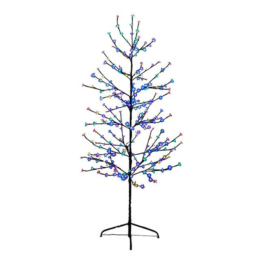 northlight 6 ft pre lit twig slim artificial christmas tree with 280 constant multicolor
