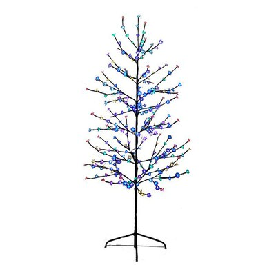 buy popular 2f74d 94022 6-ft Pre-lit Twig Slim Artificial Christmas Tree with 280 Constant  Multicolor LED Lights