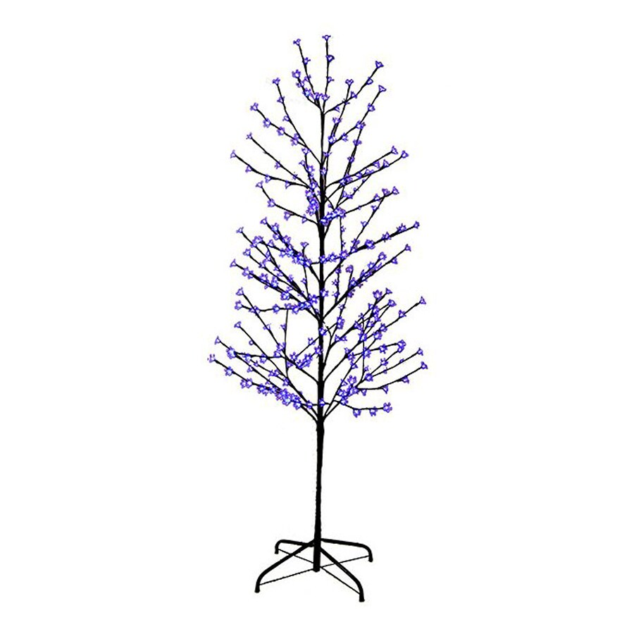 Northlight LB International 6-ft Pre-Lit Twig Slim Artificial Christmas Tree with Purple LED Lights