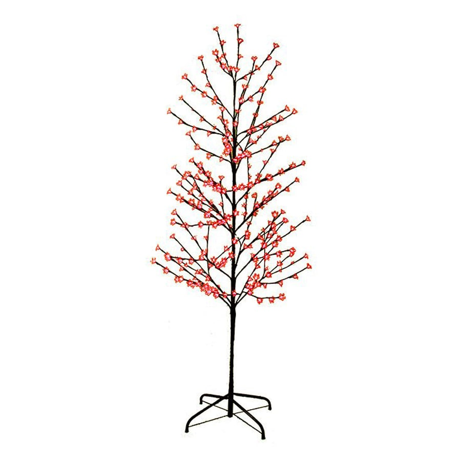 Northlight LB International 6-ft Pre-lit Twig Slim Artificial Christmas Tree with 280 Constant Red LED Lights