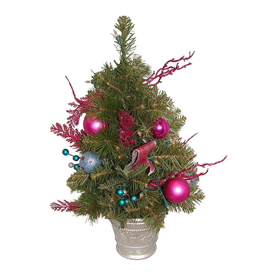 Northlight Allstate 2-ft Pre-lit Whimsical Artificial Christmas Tree with 50 Constant Clear White Incandescent Lights