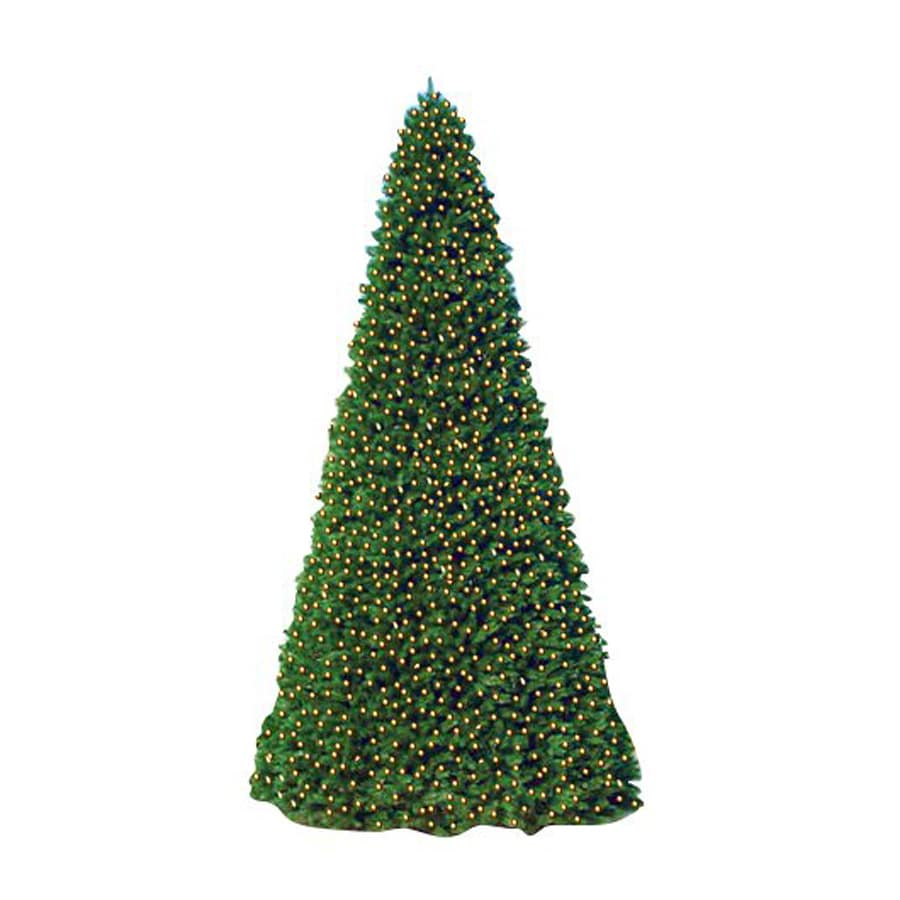 Christmas Central 20-ft Indoor/Outdoor Pre-Lit Everest Fir Artificial Christmas Tree with 1500-Count White LED Lights