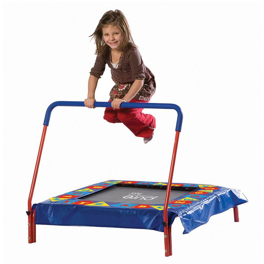 Pure Fun 3-ft Square Multicolor Kids Trampoline