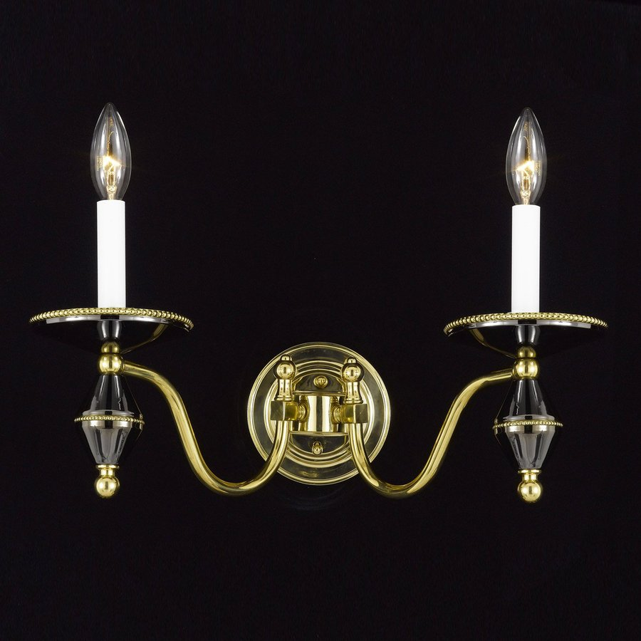Gold Candle Wall Lights : Shop Weinstock Illuminations 18-in W 2-Light Gun Metal/Gold Candle Wall Sconce at Lowes.com