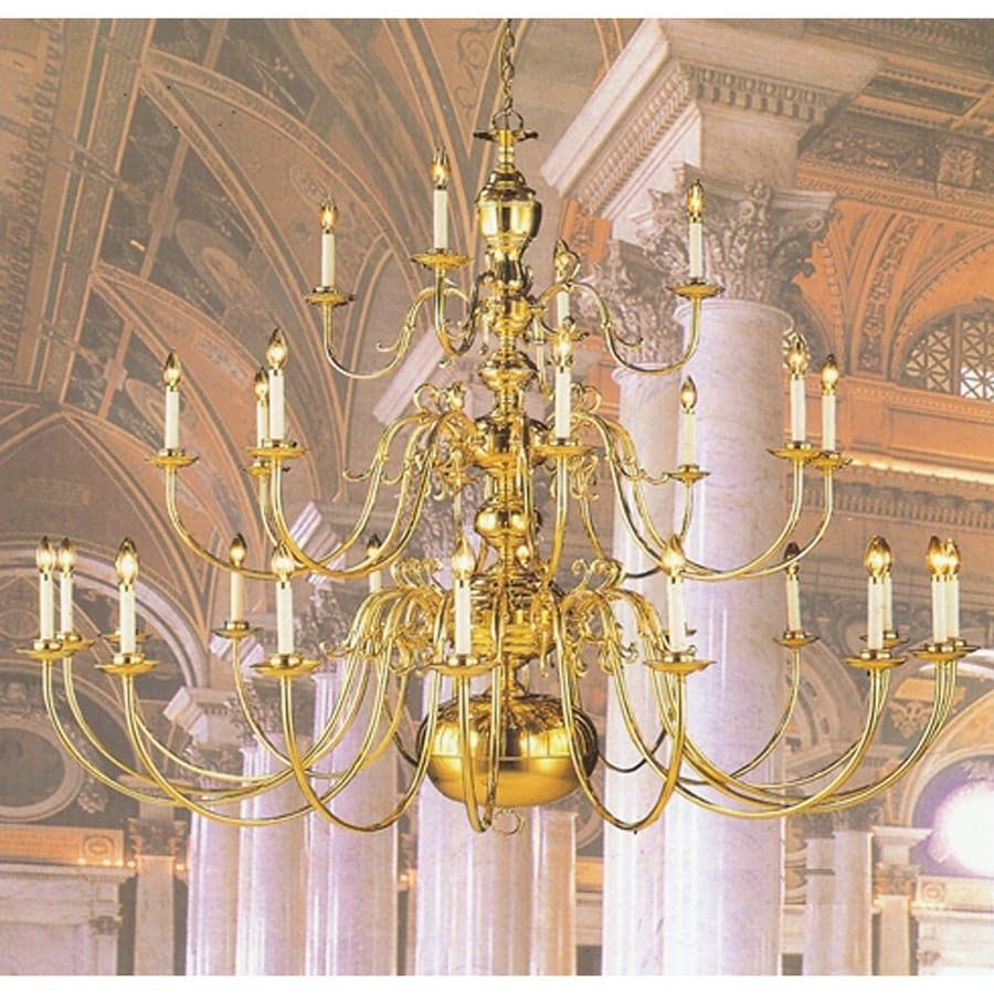 Shop weinstock illuminations 28 light polished brass chandelier at weinstock illuminations 28 light polished brass chandelier arubaitofo Image collections