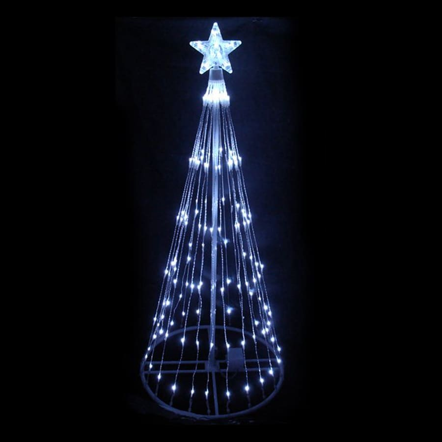 Northlight International 6-ft Tree with Multi-function White LED Lights