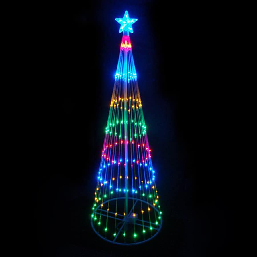 Northlight International 9-ft Tree with Multi-function Multicolor LED Lights