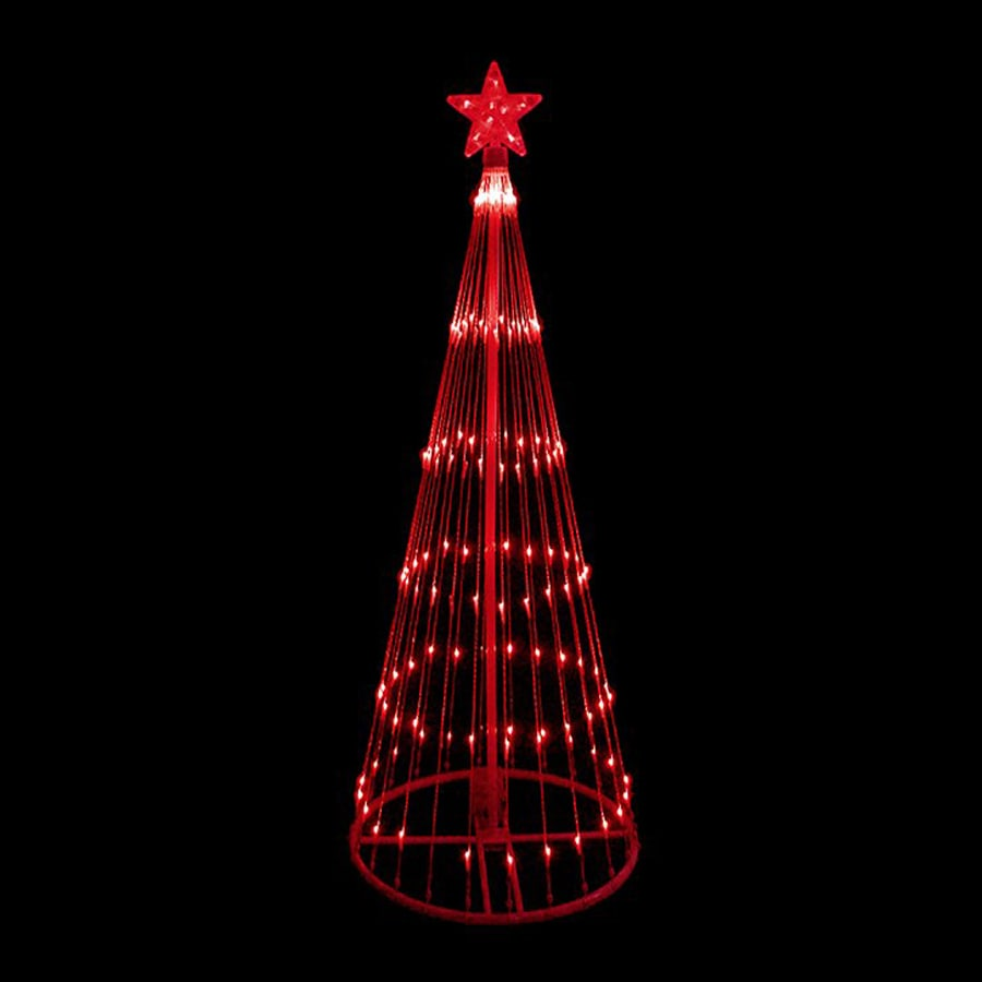 northlight lb international 9 ft lighted freestanding tree outdoor christmas decoration with red led lights