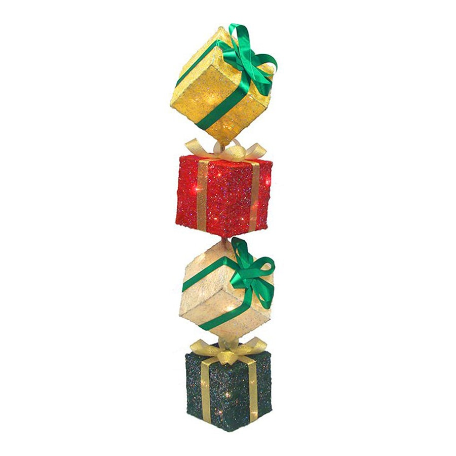 christmas central 1 piece 3 ft gift boxes outdoor christmas decoration - Outdoor Christmas Decorations Gift Boxes