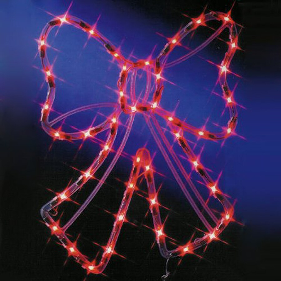 christmas central lighted bow outdoor christmas decoration with red constant incandescent lights