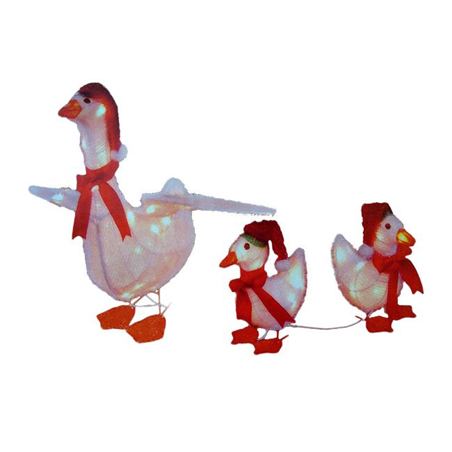 christmas central 3 piece 0 ft goose family outdoor christmas decoration - Lowes Christmas Yard Decorations