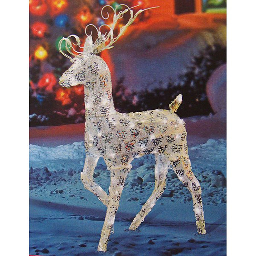 christmas central 1 piece 4 ft reindeer outdoor christmas decoration - Outdoor Christmas Reindeer Decorations Lighted