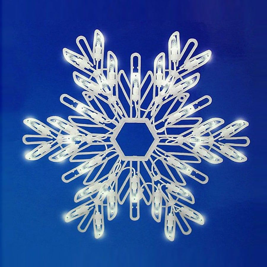 Christmas central lighted snowflake outdoor christmas - Snowflake exterior christmas lights ...