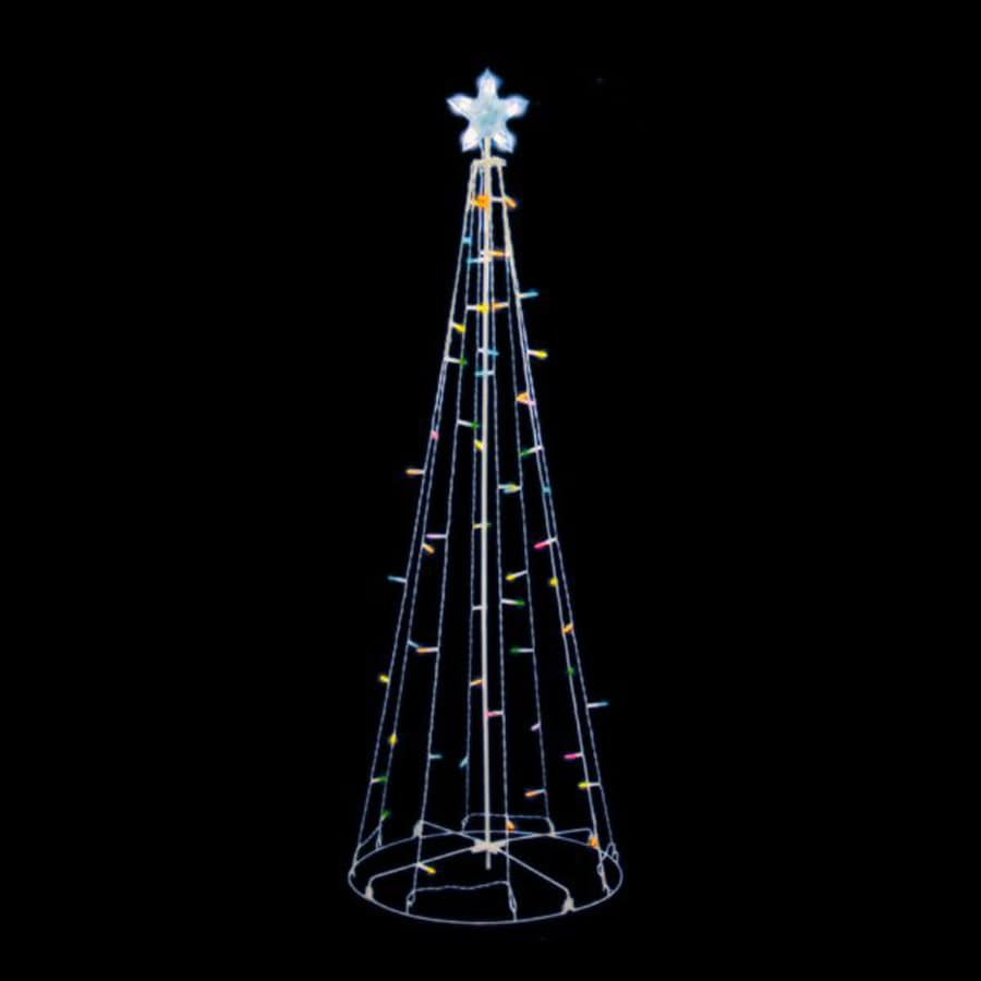 christmas central lighted cone tree outdoor christmas decoration with multicolor multi function led lights