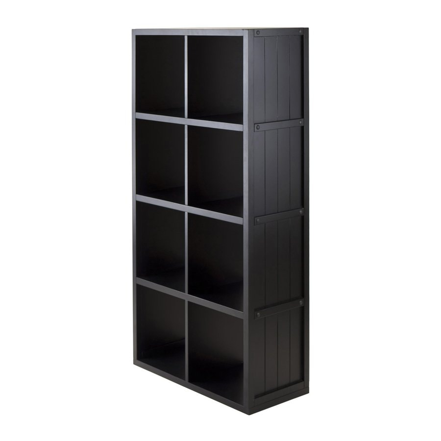 Winsome Wood Timothy Black 25.63-in W x 53.1-in H x 11.81-in D 0-Shelf Bookcase