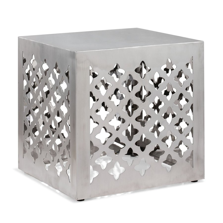 Zuo Modern Stainless Steel Square Ottoman