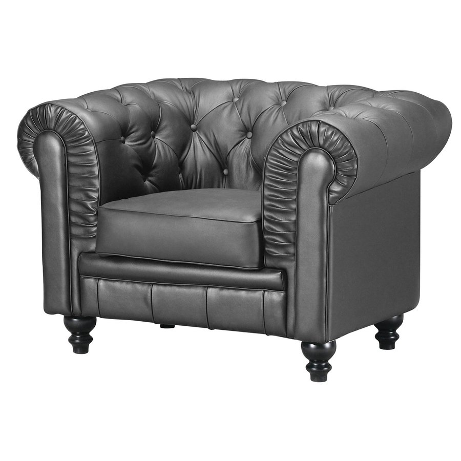 Zuo Modern Aristocrat Black Faux Leather Club Chair