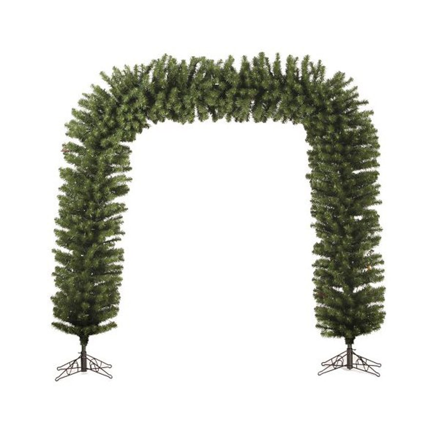 christmas central lighted freestanding pine archway indoor christmas decoration - Lighted Christmas Decorations Indoor