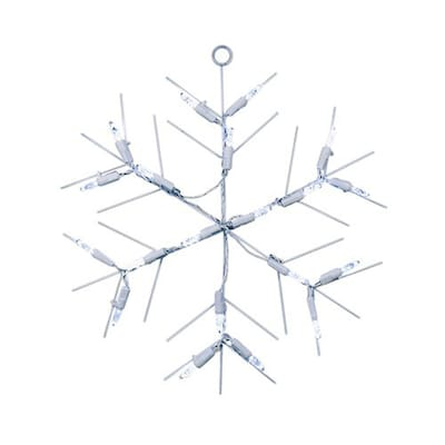 Christmas Central Lighted Hanging Snowflake Indoor Christmas