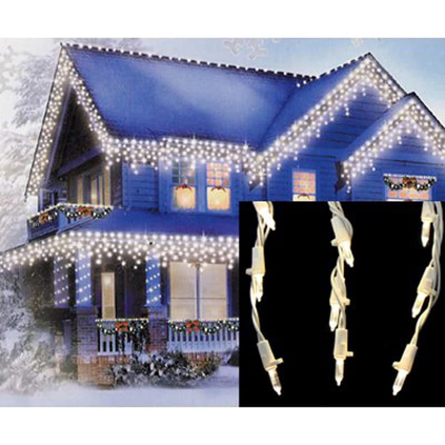 Shop christmas central 105 count indooroutdoor multi function white christmas central 105 count indooroutdoor multi function white led mini christmas icicle aloadofball Image collections