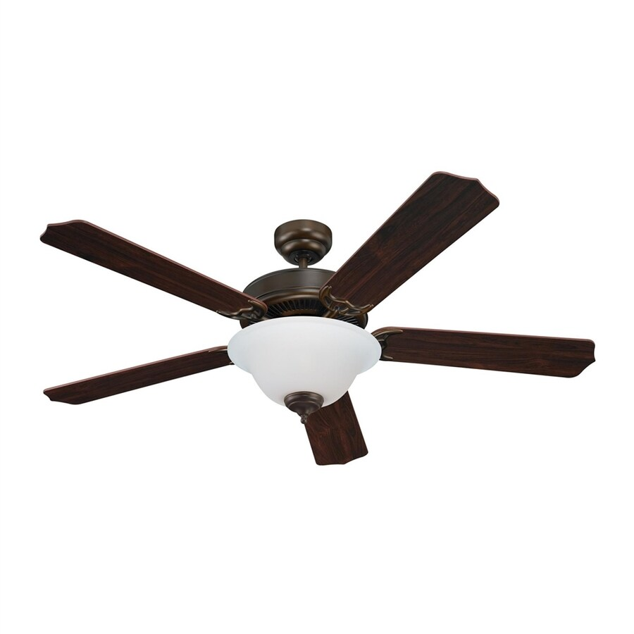 Sea Gull Lighting Quality Max 52-in Russet Bronze Downrod or Close Mount Indoor Residential Ceiling Fan with Light Kit (5-Blade) ENERGY STAR