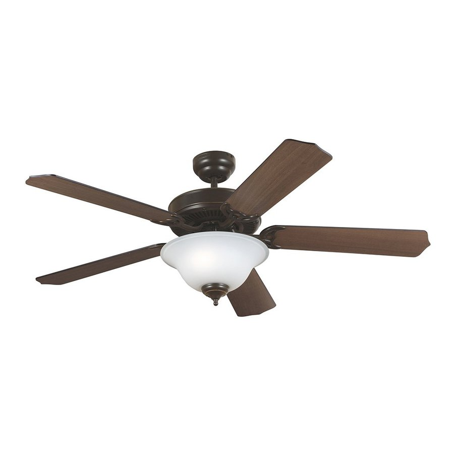 Sea Gull Lighting Quality Max Plus 52-in Heirloom Bronze Downrod or Close Mount Indoor Ceiling Fan with Light Kit (5-Blade) ENERGY STAR