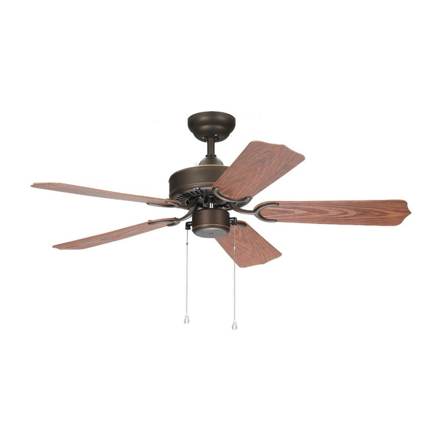 Sea Gull Lighting Panorama 42-in Roman Bronze Downrod Mount Indoor/Outdoor Residential Ceiling Fan (5-Blade)