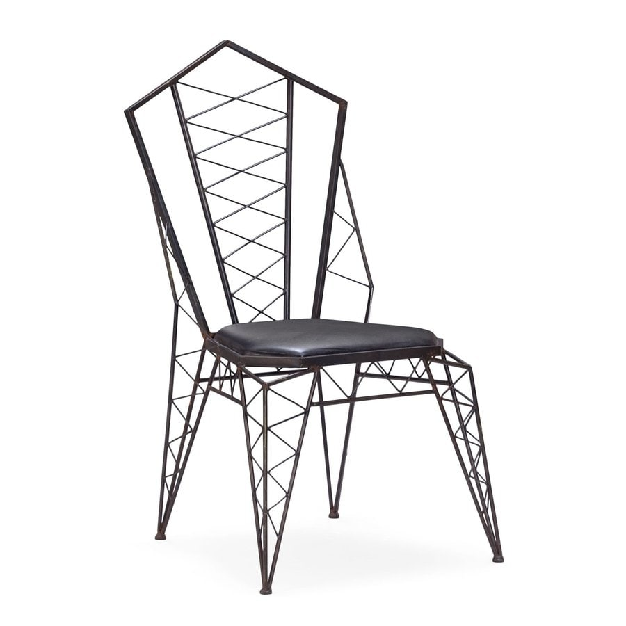 Zuo Modern Set Of 2 Heavy Metal Rust Accent Chairs