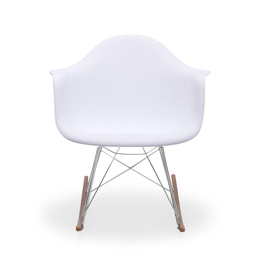 Zuo Modern Rocket White Rocking Chair