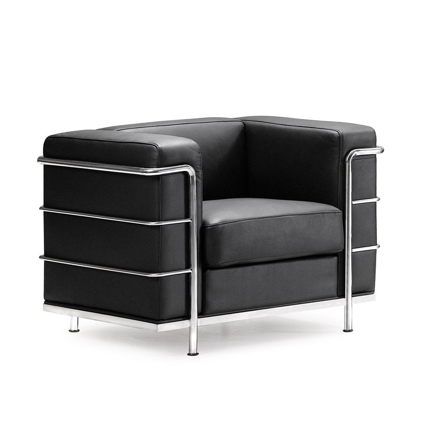 Zuo Modern Fortress Black Faux Leather Chair