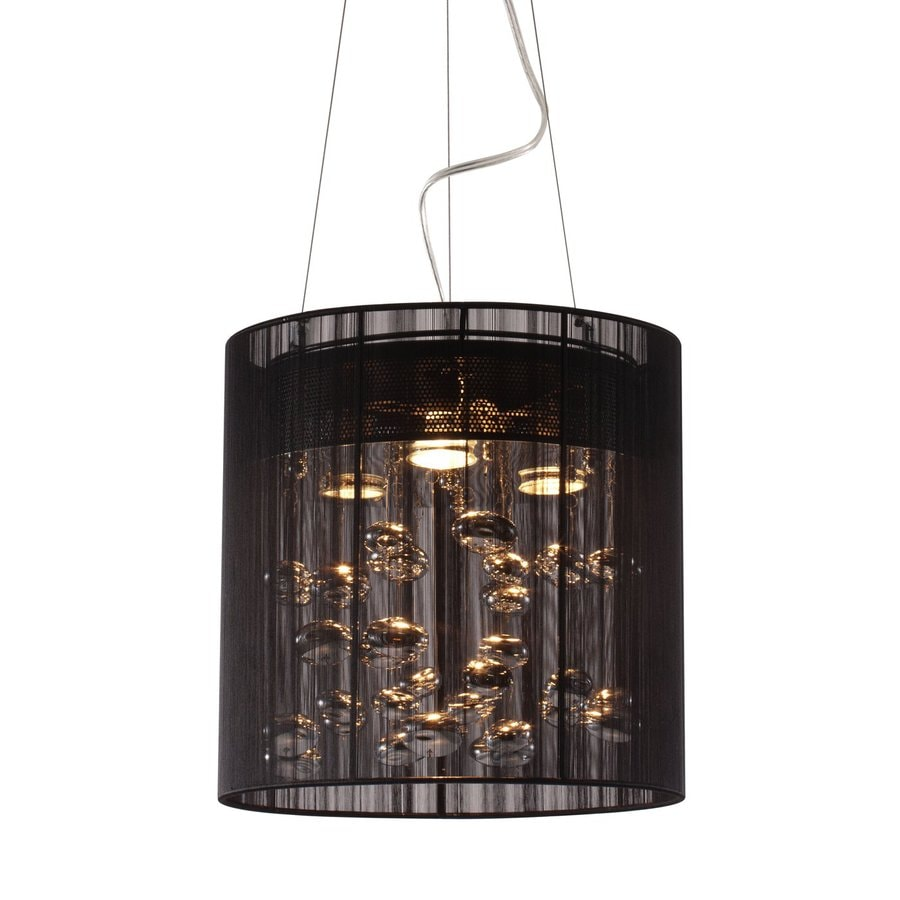 Zuo Modern Subatomic 13-in Black Single Cylinder Pendant