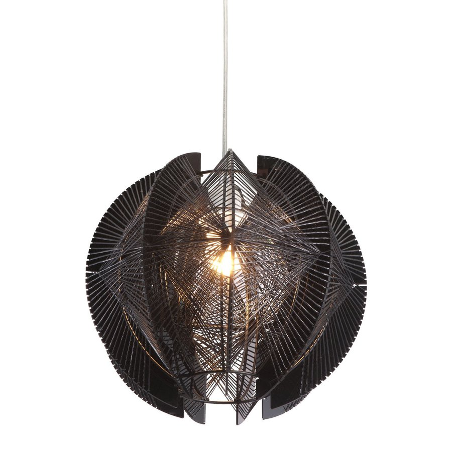 Zuo Modern Centari 11-in Black Single Geometric Pendant