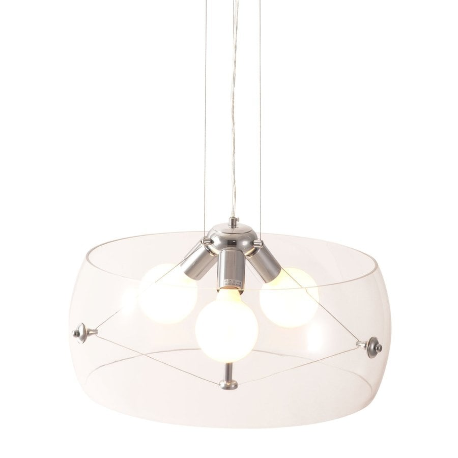Zuo Modern Asteroids 19.7-in Clear Single Glass Drum Pendant