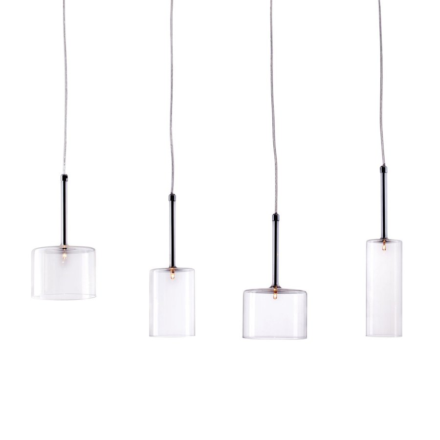 Zuo Modern Rain Multi-Light Clear Glass Cylinder Pendant