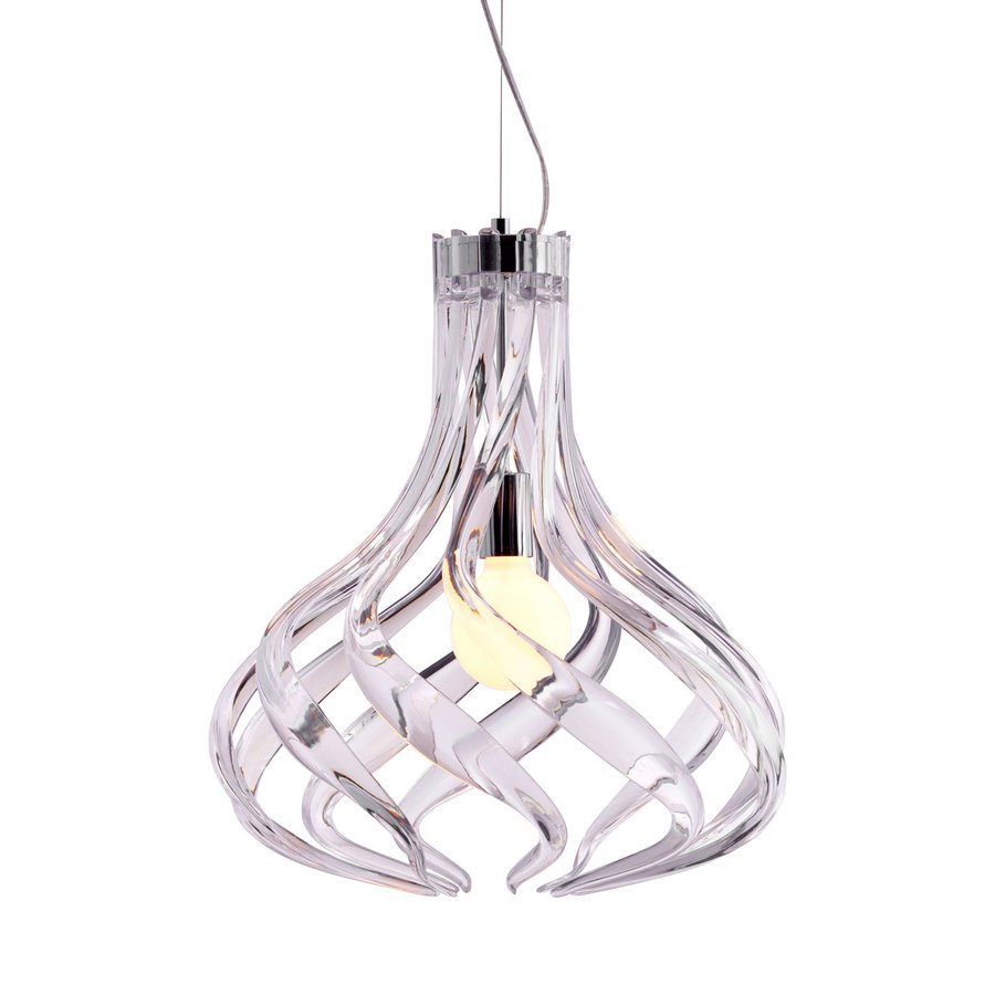 Zuo Modern Cyclone 18-in Clear Single Teardrop Pendant